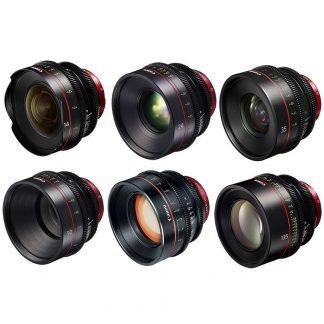 Canon EF 6 Cine Primes Lens Bundle
