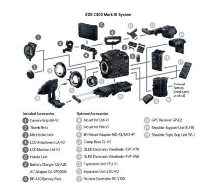 EOS C300 Mark III eco system