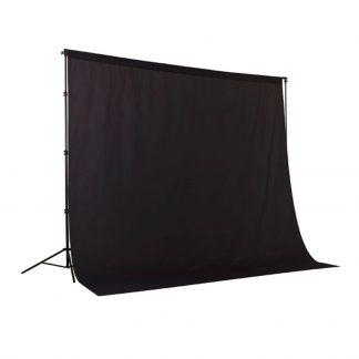 Black Solid Muslin Backdrop
